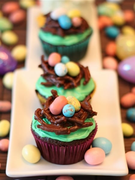 Easter Cupcakes Bird's Nest Easter Cupcakes