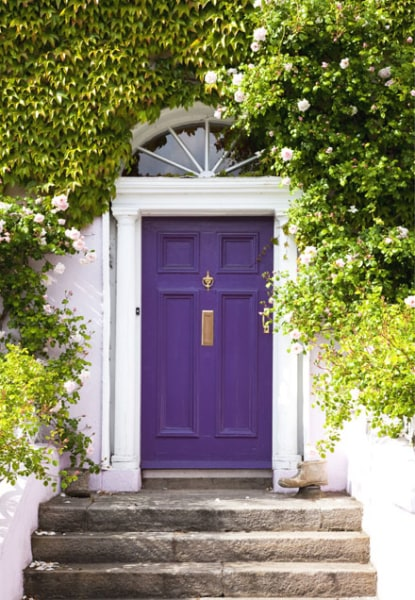 Colorful Front Doors Purple Door