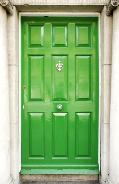 Colorful Front Doors Bright Green Door