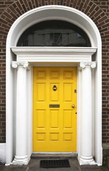 Colorful Front Doors Yellow Door