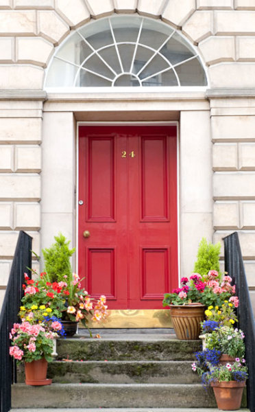 Colorful Front Doors Red Door