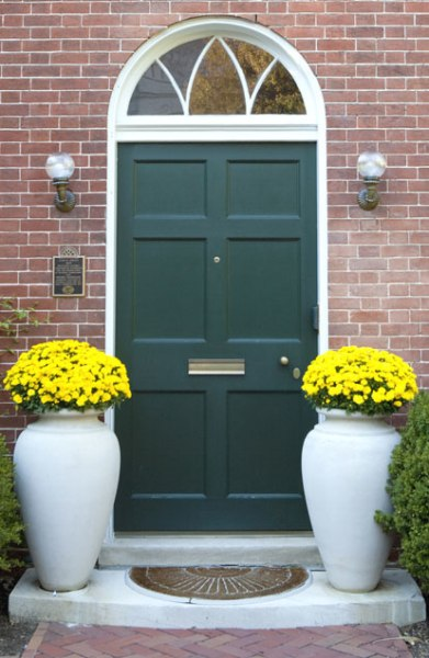 Colorful Front Doors Teal Door