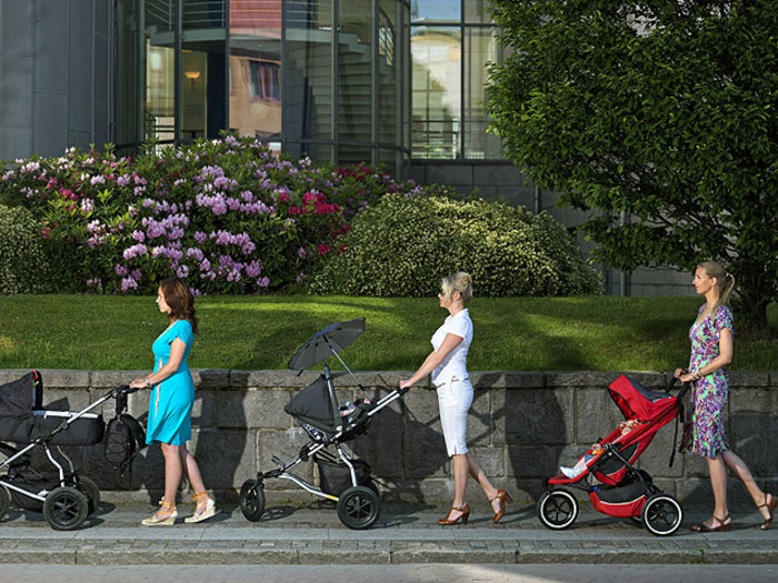 Parenting Stereotypes -- Women Pushing Strollers