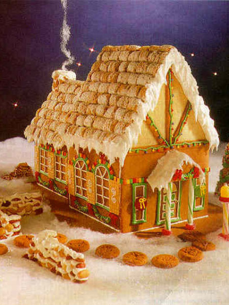 Gingerbread house tips for kids for Cool designs for gingerbread houses