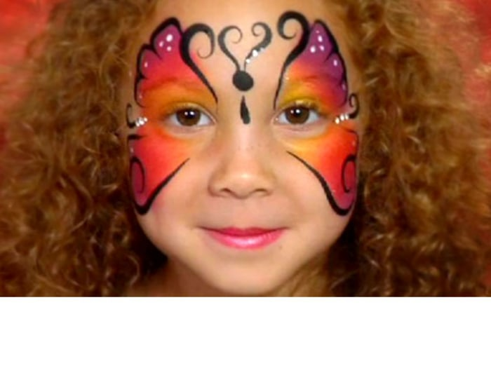 Simple Face Paint Ideas For  Year Old Girl Cheek