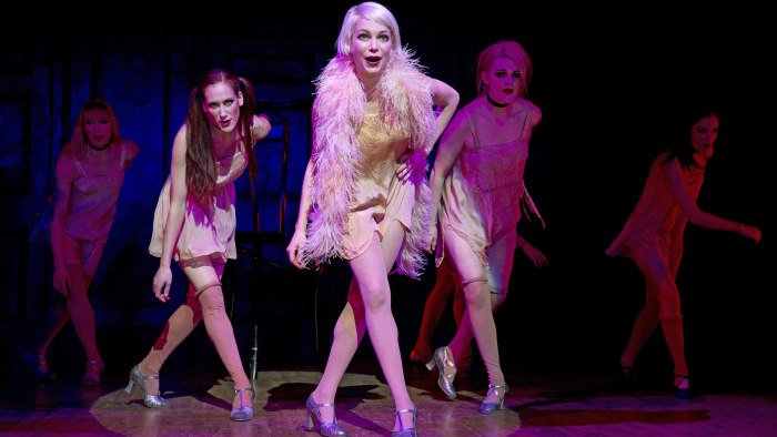 "Michelle Williams (c.) stars as Sally Bowles in ""Cabaret."""