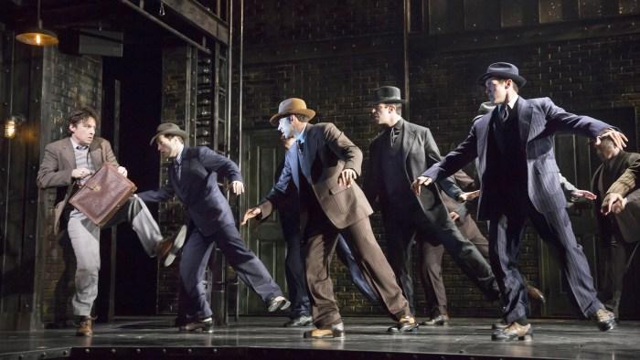 "Zach Braff (on left) stars in ""Bullets Over Broadway."""