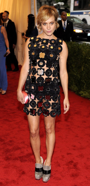 Actress Chloe Sevigny arrives for the Metropolitan Museum of Art's 2012 Costume Institute Gala benefit.