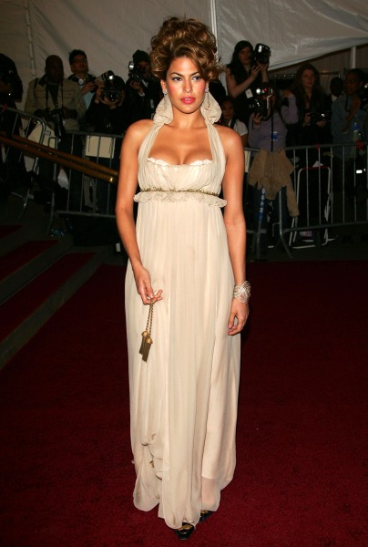 Eva Mendes attends the Metropolitan Museum of Art Costume Institute Benefit Gala: Anglomania at the Metropolitan Museum of Art May 1, 2006 in New York City.