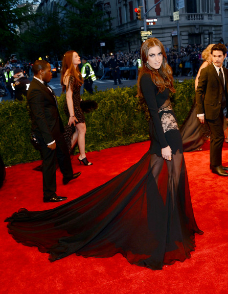 """Actress Allison Williams attends the Costume Institute Gala for the """"PUNK: Chaos to Couture"""" exhibition at the Metropolitan Museum of Art on May 6, 2013 in New York City."""
