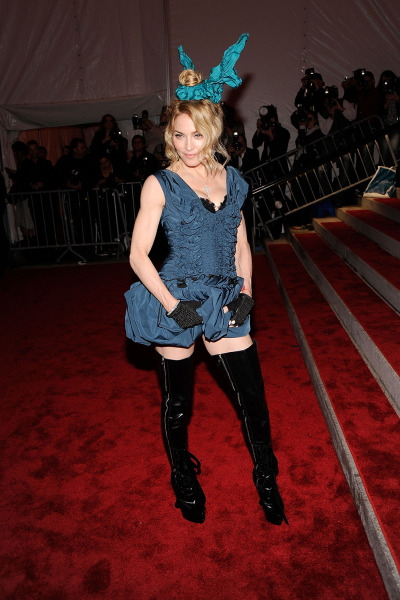 """Musician Madonna attends """"The Model as Muse: Embodying Fashion"""" Costume Institute Gala at The Metropolitan Museum of Art on May 4, 2009 in New York City."""