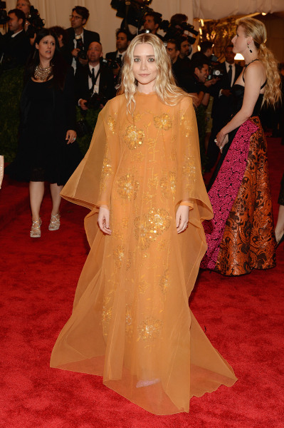 """NEW YORK, NY - MAY 06:  Ashley Olsen attends the Costume Institute Gala for the """"PUNK: Chaos to Couture"""" exhibition at the Metropolitan Museum of Art ..."""
