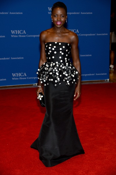 WASHINGTON, DC - MAY 03:  Actress Lupita Nyong'o attends the 100th Annual White House Correspondents' Association Dinner at the Washington Hilton on M...