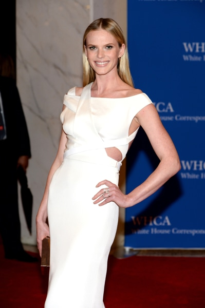 WASHINGTON, DC - MAY 03:  Model Anne V attends the 100th Annual White House Correspondents' Association Dinner at the Washington Hilton on May 3, 2014...