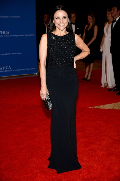 Actress Julia Louis-Dreyfus attends the 100th Annual White House Correspondents' Association Dinner at the Washington Hilton...