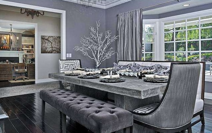 Selena Gomez updated the interior of the home with gray and silvery white tones.