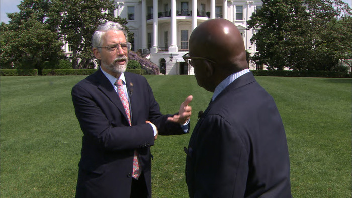 Before his interview with Obama, Al spoke with several top administration officials about the report, including White House science adviser, John Holdren