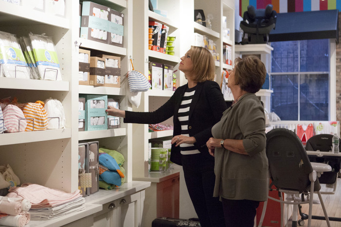 Savannah and Nancy Guthrie browse a baby store in Soho, New York.
