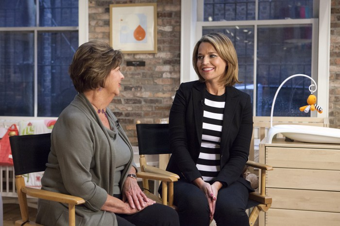Savannah Guthrie interviewing her mom, Nancy Guthrie.