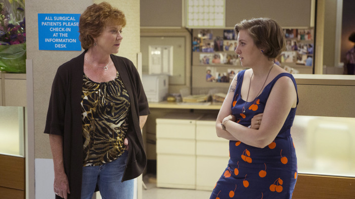 Becky Ann Baker as Loreen Horvath and Lena Dunham as Hannah Horvath