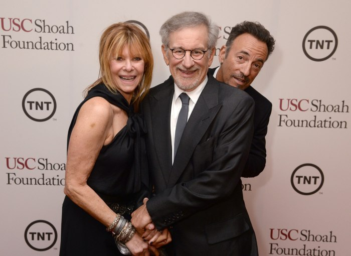 Image: Kate Capshaw, Steven Spielberg and Bruce Springsteen