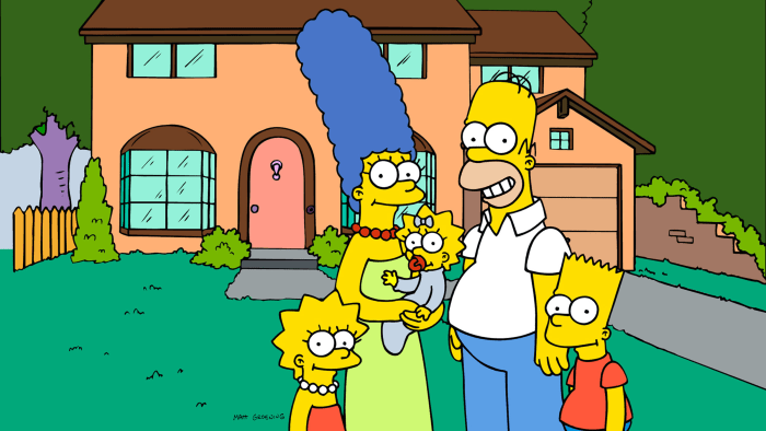 Cartoon family The Simpsons