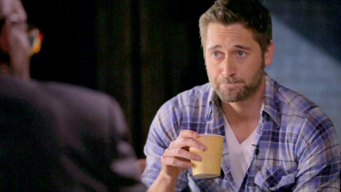 """This coffee tastes like roofie,"" Ryan Eggold says after Al urges him to drink up."