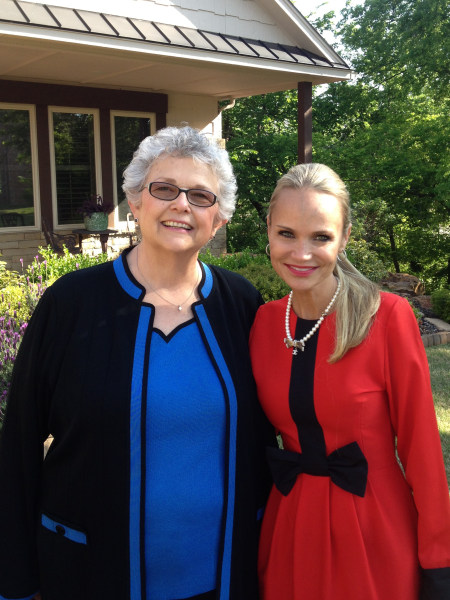 Kristin Chenoweth with her mother, Junie