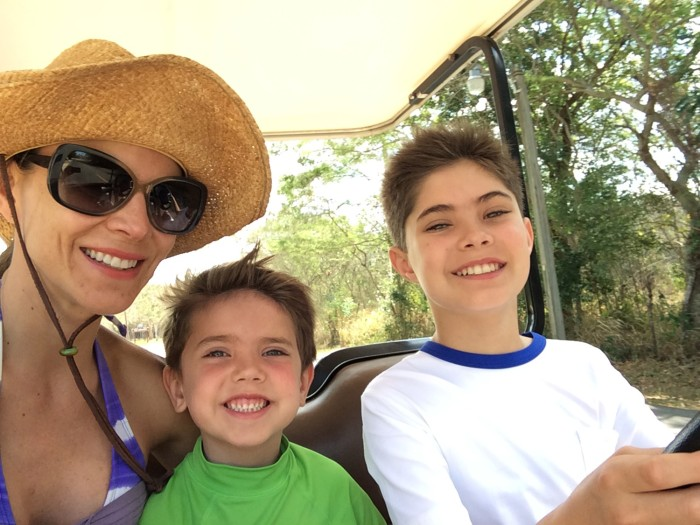 Take time for yourself so you can be a better parent: Natalie Morales with her two sons.