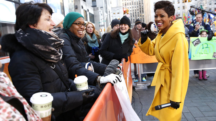 TODAY co-host Tamron Hall out on the plaza.