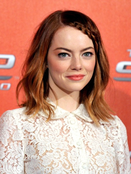 US actress Emma Stone poses during a photocall of the film  'The Amazing Spider-Man 2' in Rome on April 14, 2014 AFP PHOTO / TIZIANA FABI        (Phot...