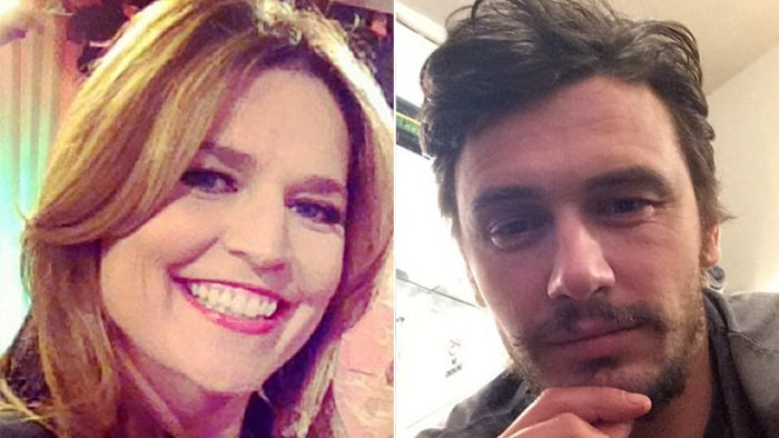 A tale of two selfie-takers: Savannah and James.