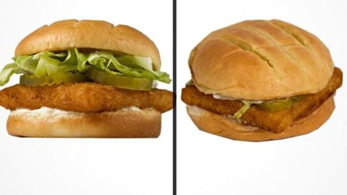 Why restaurant meals don 39 t look like the ads for Burger king big fish