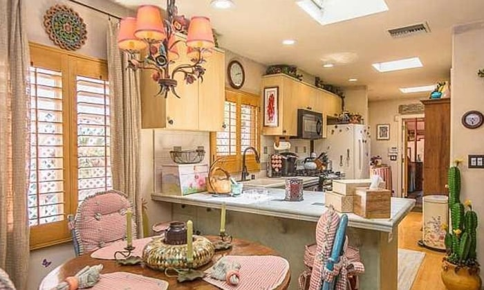 Dolly Parton's two-bedroom, two-bath home is listed for $1.395 million.