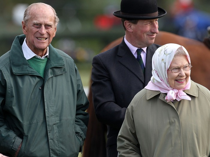 Prince Philip and Queen Elizabeth II attend the Royal Windsor Horse Show on May 10, 2013 in Windsor, England.