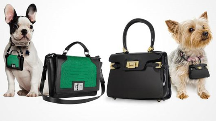 Pawbags are miniature replicas of the four-figure, croc-skin and calf's leather designer bags worn by their owners.
