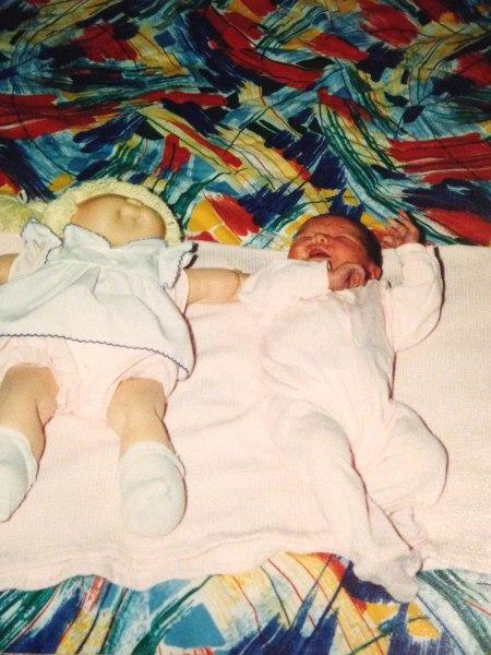 Skyler James as a baby