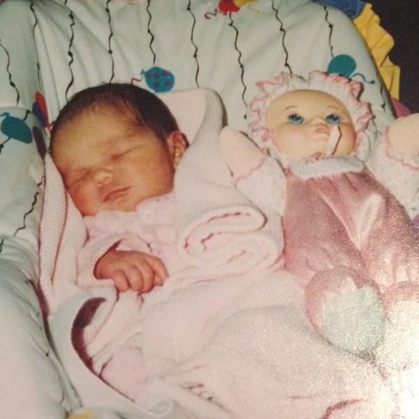 Skyler James as an infant