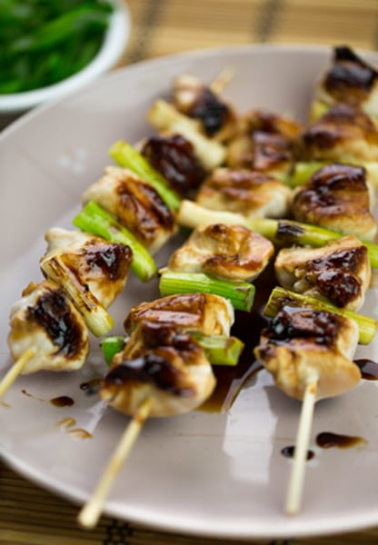 Yakitori (Japanese grilled-chicken skewers)