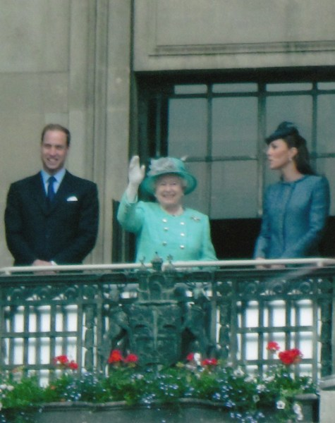 Edwards took this picture of the duke and duchess with the queen at Nottingham in 2012.