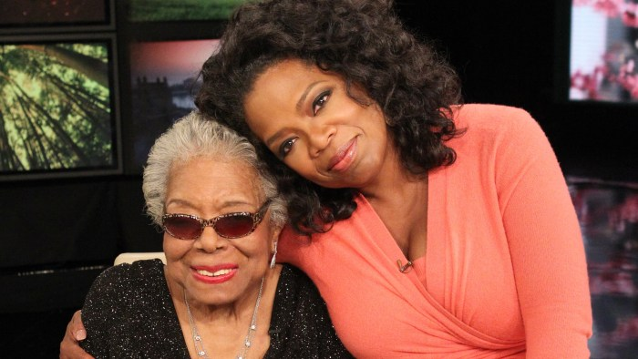 Image: Oprah Winfrey with Maya Angelou.