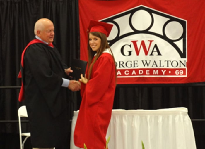 Annie Cusack was able to receive her diploma in front of her classmates after she and her family endured a trying year.