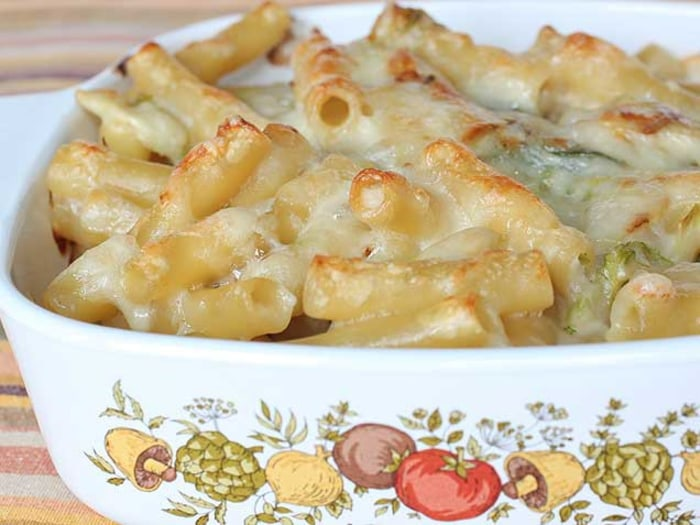 Creamy Baked Ziti with Sneaky Brussels Sprouts