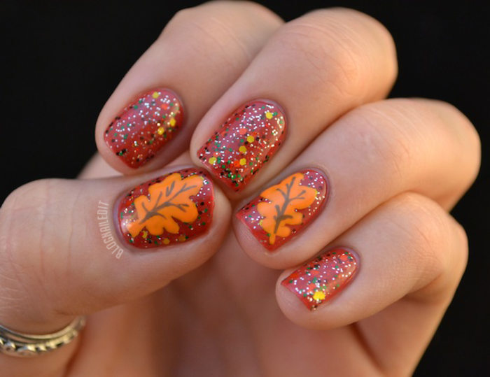 fall nail art thanksgiving nail 13 festive fall manicure tutorials 12801