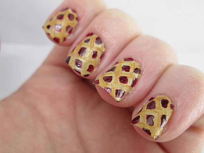 Today. 13. Piecrust Nail Art. For a truly sweet Thanksgiving ... - Thanksgiving Nail Art: 13 Festive Fall Manicure Tutorials - TODAY.com