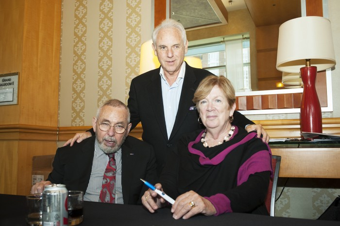 Tony Mendez and his wife Jonna, shown here with Dr. Neal Kassell, a neurosurgeon and founder of the Focused Ultrasound Foundation, revealed Tony's struggles with Parkinson's disease at a symposium run by the foundation this week.