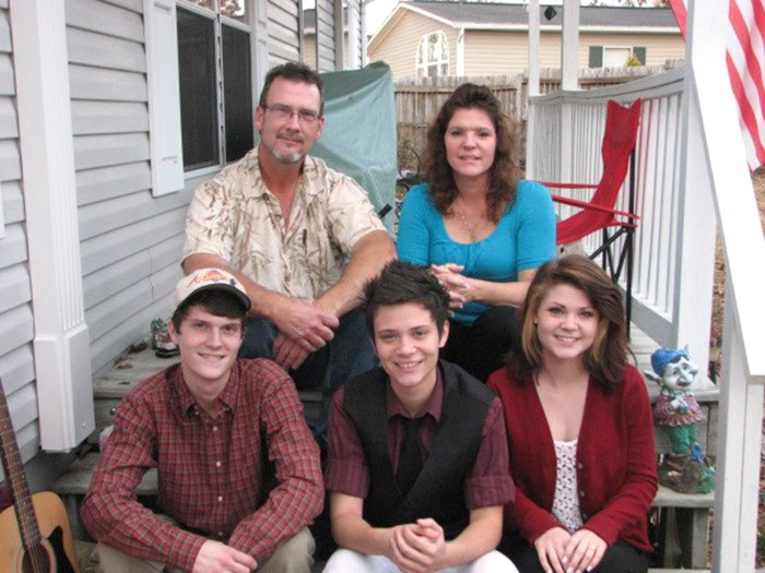 The Duclos family at Thanksgiving in 2012.
