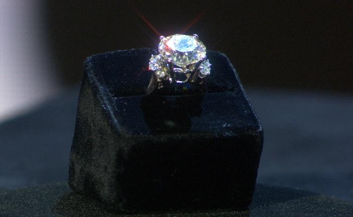 Ginger Alden's engagement ring.