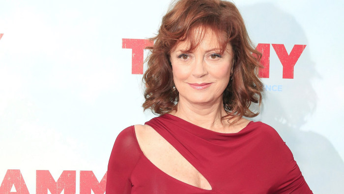 epa04293106 US actress and cast member Susan Sarandon arrives for the Los Angeles premiere of 'Tammy' at the TCL Chinese Theater in Hollywood, Califor...