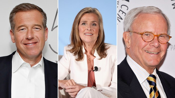 Meredith Vieira, Brian Williams and Tom Brokaw are among TODAY's guest hosts next week.